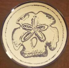 New Blue Sky Ceramic Under The Sea Sand Dollar Dinner Plate & Cereal Bowl