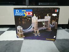 MB Puzz 3D 'TOWER BRIDGE' 819 Piece Jigsaw Puzzle  100% New. box tatty