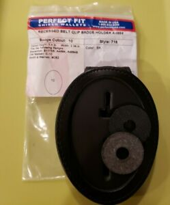 Perfect Fit Recessed Belt Clip Badge Holder Brand New