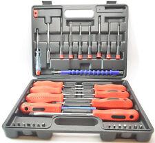 PITTSBURGH 90764 - 32 Pc Screwdriver Set w/Plastic Case Soft Grip Handles