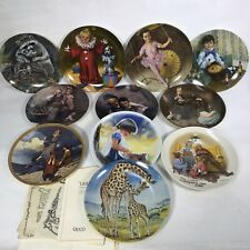 Decorative Collector Plates Lot Of 11, Norman Rockwell,reco,knowles China