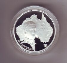 1993 $5 SILVER Proof Coin out Masterpieces Set Matthew Flinders Explorer *