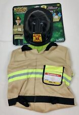 Adventure Force Fire Chief Costume Uniform and Fire Hat Fantasy Sz 3-6 NEW