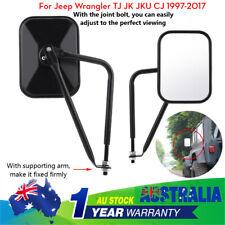 1 pair Shake-proof Rear View Mirror for Jeep Wrangler TJ JK JKU CJ 1997-2017 AU