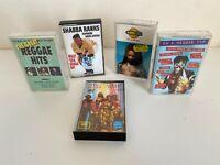 5 x Reggae Cassette Tapes - Various Artists - Steel Pulse Shabba Ranks - VGC