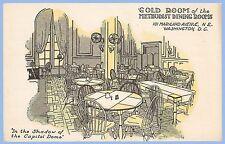 VINTAGE - GOLD ROOM OF METHODIST DINING ROOMS - PRIVATE MAILING UNUSED POSTCARD