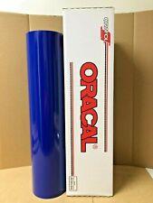 Oracal 651 1 Roll 24 X 50yd 150ft Cobalt Blue 065 Gloss Sign Vinyl