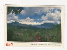 Bali Lake & Mount Batur Penelokan Kintamani 1995 Postcard 725a