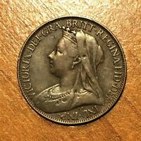 1895 Great Britain Farthing, Victoria, KM# 753, VF   2719