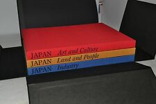 JAPAN: Land, People, Art, Culture and Industry by Tatsuo Shibata – 3 Volumes