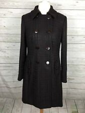 Women's JAEGER Coat - Size UK14 - Brown - Wool Blend - Great Condition