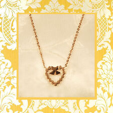 """CC20170 - Eye catching """"gold"""" pendant with heart stainless steel pendent"""
