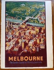 ORIGINAL VINTAGE RAILWAY TRAVEL POSTERS 1920-1930 HAND PAINTED BY FAY PLAMKA