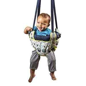 Evenflo Johnny Jump Up Blue Owl Door Doorway Baby Jumper Jump Up Exerciser New .