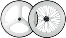 Carbon Track Wheels Front Tri Spoke Wheel Rear 88mm Clincher Fixed Gear wheel