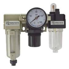 14 Air Particulate Filter Metal Bowl Regulator Amp Lubricator With Gauge Wcr1041g