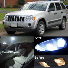 11x  Xenon White LED Interior Lights Package For Jeep Grand Cherokee 2005 - 2010