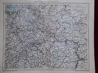 Landkarte von Mittelrussland, Moskau, Brockhaus 1904