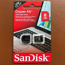 NUOVO 8GB SanDisk Cruzer Fit Chiavetta USB Pen Drive Flash Per MAC WIN 7 8 10
