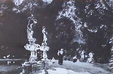 """Boboli Fountain"", John Singer Sargent, Magic Lantern Glass Art Slide"