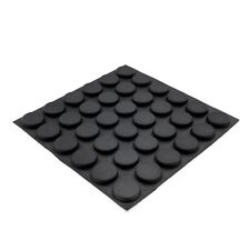 36x Large 19.8mm Round Black Rubber Feet Self Adhesive Flat Foot Pad Laptop RF14