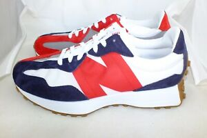 NEW BALANCE MENS BRAND NEW MS327RP SNEAKERS SIZE 10.5 D BLUE/WHITE/RED