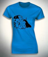 My Neighbor Totoro  with an umbrella for womens T-shirt  Size S,M,L,XL