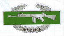 RHODESIAN ARMY COMBAT BADGE (UNOFFICIAL) UV LAMINATED VINYL 130MM X 65MM