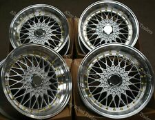 """8.5 X 17"""" SILVER RS GS ALLOY WHEELS FOR BMW 5 SERIES E12 E28 E34 E60 E61 F10"""
