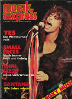 musikexpress Nr.10 von 1977 Peter Gabriel, Dr. Hook, Vibrators, Supertramp, Yes