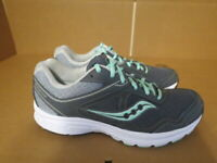 WOMENS SAUCONY GRID COHESION 10 GRAY MINT WHITE RUNNING SHOES SIZE 9M A691