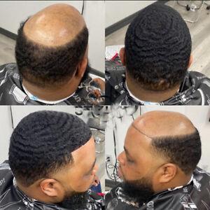 Skin Afro Toupee 10MM Man Weave Hair Unit Black Mens Deep Curly Male Toupee