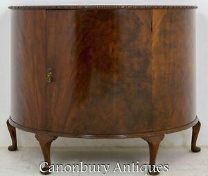 Antique Side Cabinet - Demi Lune Mahogany Chest