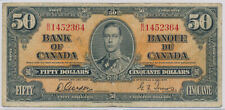 CANADA 50 DOLLARS 1937 GORDON BH1452364 BC26B - VG+