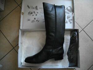 bottes hautes gabor noires cuir suede