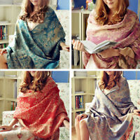 Women Warm Blanket Oversized Scarf Winter Wrap Shawl Cozy Checked Pashmina Lot