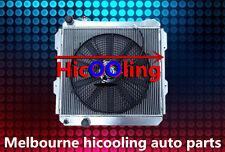 Aluminum Radiator + Fan for HILUX LN85 LN60 LN61 LN65 2.4L Diesel MT 1984-1991