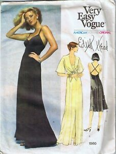 Vintage Vogue Sewing Pattern Misses Dress by Edith Head Hollywood Size 10 Cut