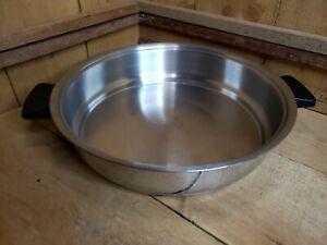 """Vintage Rena Ware 18-8 3 Ply Stainless Steel 9 1/2"""" Skillet Pan"""