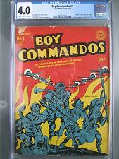 Boy Commandos #1 CGC 4.0 Unrestored **1st Liberty Belle** DC Comics 1942