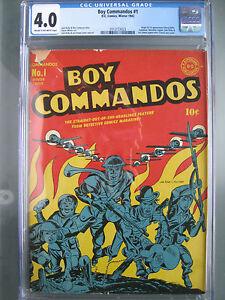 Boy Commandos #1 CGC VG 4.0 1942 Origin & 1st app Liberty Belle - Classic Cover