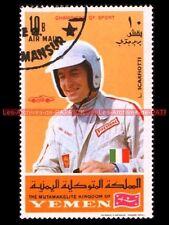 Ludivico SCARFIOTTI Pilote YEMEN : Timbre Poste Moto 1969 Stamp Stempel Sello