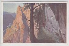 AK Bruno Hess, Wasserfallweg Emesruhe, Gstatterboden 1924