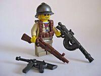 Lego Custom FRENCH INFANTRY Minifigure WWII Soldier W/ Brickwarriors Weaponry