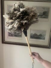 Special 60grm Ostrich Feather Duster 45cm Stained Handle
