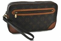 Authentic Louis Vuitton Monogram Marly Dragonne Clutch Hand Bag M51825 LV B4992