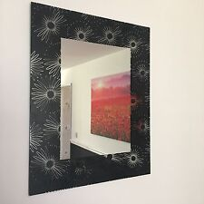 BLACK FLOWERS WALL MIRROR BATHROOM MANTLE MIRROR GIRLS ROOM DRESSER WALL MIRROR