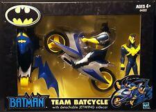 "2002 HASBRO ANIMATED TEAM BATCYCLE BATMAN & NIGHTWING 5"" FIGURES 2-PACK MIB"