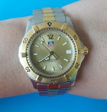 TAG HEUER PROFESSIONAL TWO TONE STAINLESS STEEL WATCH WK1121-0 Nice Conditions!