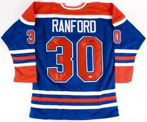 Bill Ranford Signed Oilers Blue Jersey (PSA COA) Playing career 1985–2000